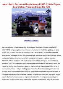 Jeep Liberty Service Repair Manual 2003 2100 By Saturnina