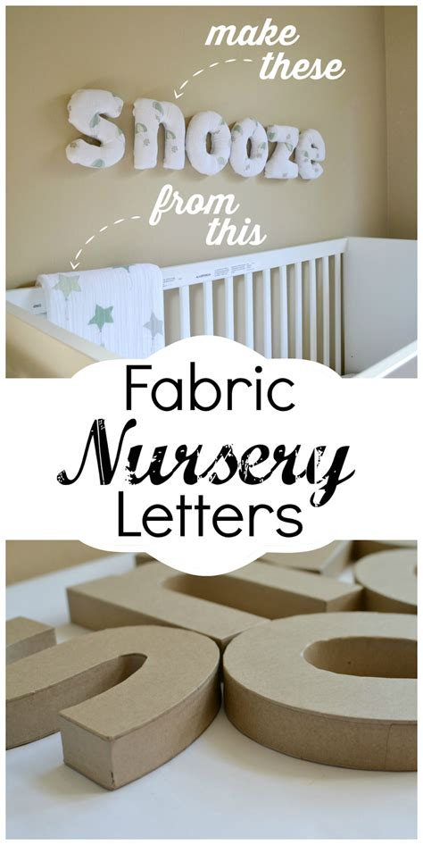 letters for nursery how to make easy diy fabric letters for your nursery