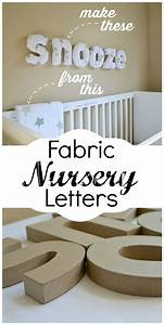 How to make easy diy fabric letters for your nursery for How to make wall letters for nursery