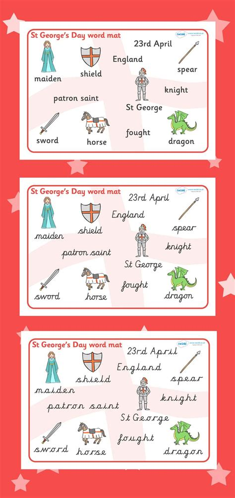 st george s day word mat festivals and cultural events 918 | 3d86c6fb7a3ee329d4e9b4f3fb966adf