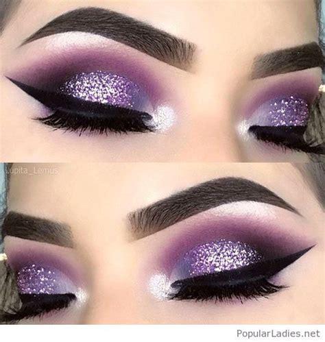 amazing purple  glitter eye makeup purple smokey eye makeup purple eye makeup purple makeup