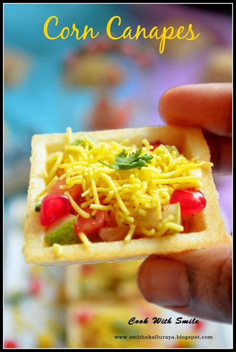fillings for canapes corn canapes corn sev canapes indian canapes recipe