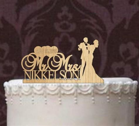 wedding cake topper with personalized custom wedding cake topper monogram personsalized