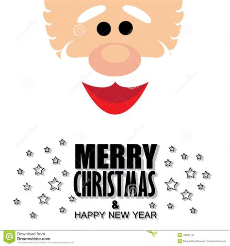 The flyer you see features a fully now, go check 10 free new years eve psd flyers and choose the most suitable option for your upcoming. Santa Claus Face With Greetings Of Merry Christmas & Happy ...
