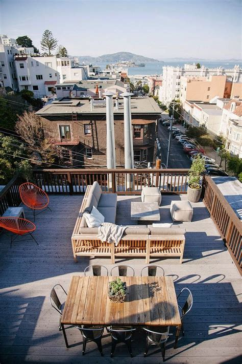 House Design Ideas With Rooftop by Best 25 Rooftop Deck Ideas On Terrace Meaning
