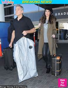 Amal Clooney Pregnant Baby Bump Pictures