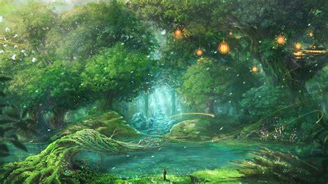 forest fantasy art wallpapers hd desktop  mobile