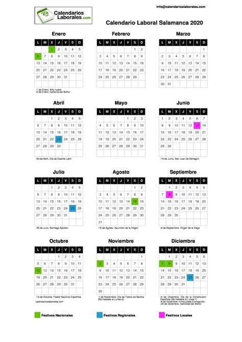 calendario laboral salamanca