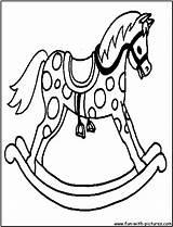 Horse Rocking Coloring Printable Kleurplaten Kleurplaat Hugo Template sketch template