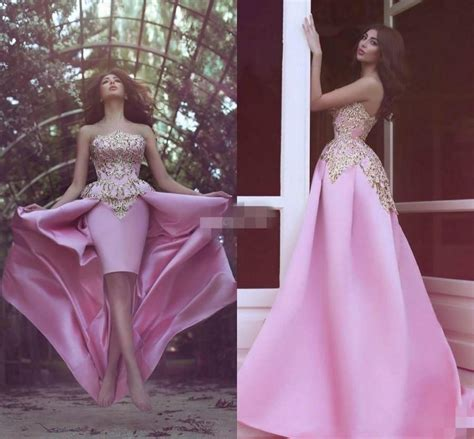 elegant strapless sheath prom dresses  appliques short