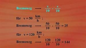 Geschwindigkeit Von Elektronen Berechnen : terme und termumformungen bremsweg berechnung grundkurs ~ Themetempest.com Abrechnung