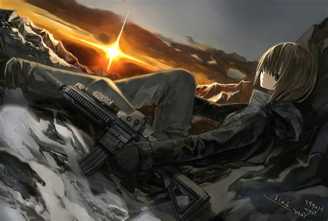 Anime With Gun Wallpaper - anime anime with guns gun original
