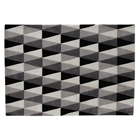 tapis gris 140 x 200 cm calligraphik maisons du monde