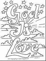 Jesus Coloring Loves Printable Children Getcolorings sketch template
