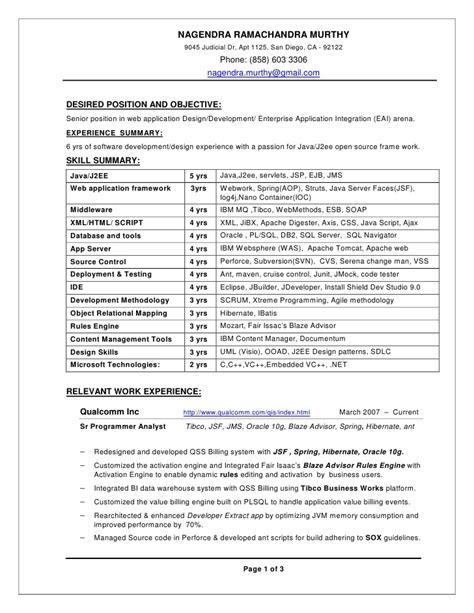 best resume sle resume exle resume surendra java