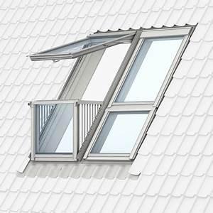 Dachfenster Mit Balkon Austritt : velux cabrio und dachbalkon ein balkon auf dem dach ~ Indierocktalk.com Haus und Dekorationen