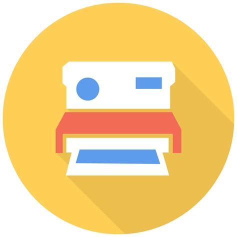 polaroid icon  flat multimedia iconset designbolts
