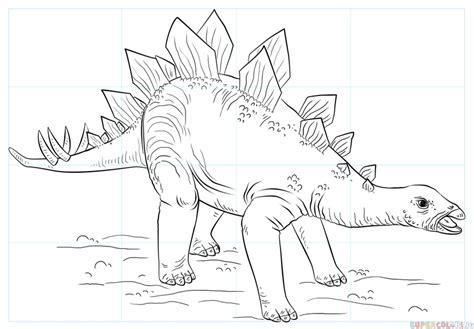 draw  stegosaurus step  step drawing tutorials