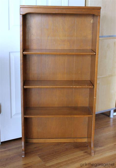 stenciled bookcase makeover girl   garage