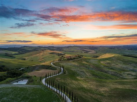 places    sunset  tuscany essential