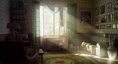 Interior Window Retro Wallpapers Sun Warm Sunlight