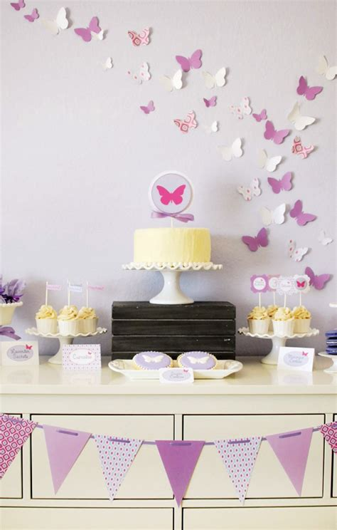 Sweet And Playful Butterfly Birthday Party  Hostess With