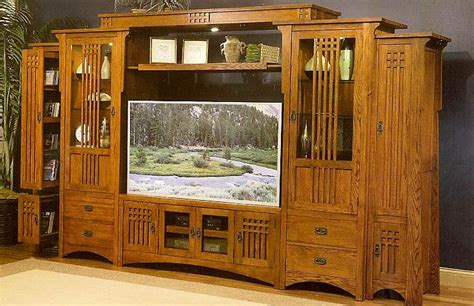 wood work mission style entertainment center plans  plans