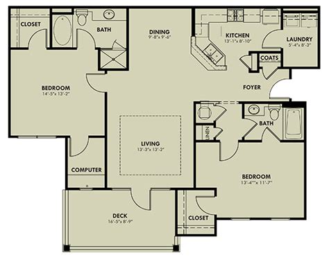 Riverchase Tile And Flooring by Greystone At Riverchase Two Bedroom Quot B Quot Floor Plan