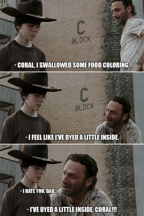Walking Dead Carl Meme - 31 of the best dad jokes told by walking dead s rick grimes thechive