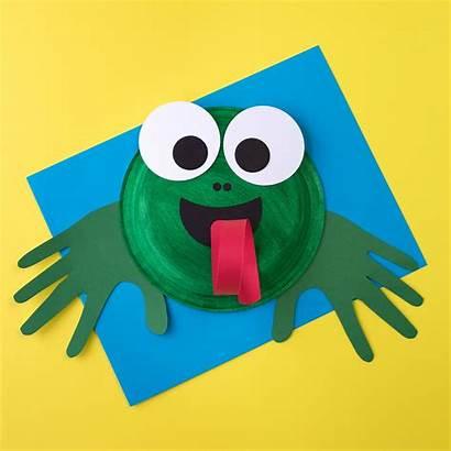 Frog Craft Crafts Paper Plate Fun Activities