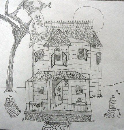 delapidated houses  images halloween art projects