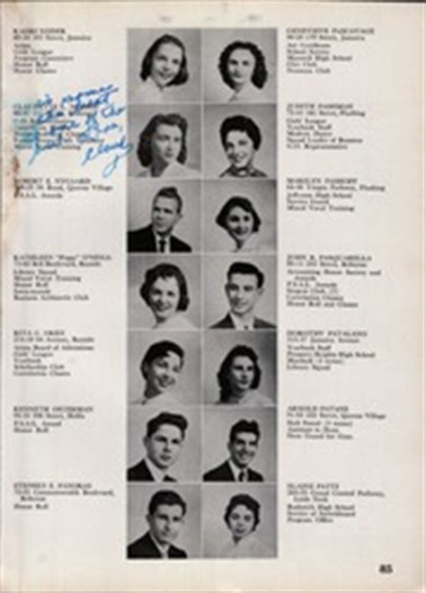jamaica high school folio yearbook jamaica ny class