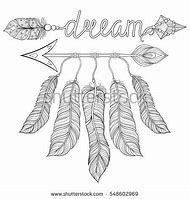 Feather Dream Catcher Coloring Pages For Adults