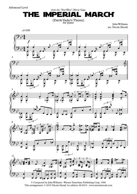 the imperial march for piano sheet music calameo