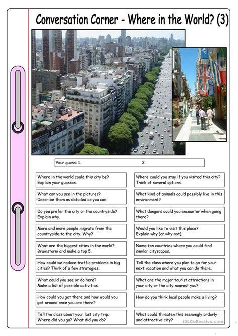 conversation corner    world   city