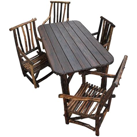 rustic handmade hickory table and chairs for sale at 1stdibs