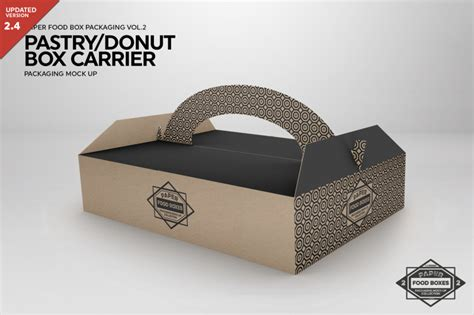 The best source of free packaging mockup psd templates online! Download Pastry/Donut Box Carrier Packaging Mock Up PSD ...
