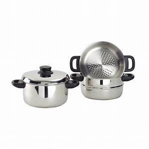 Cuit Vapeur Inox : passoire de cuit vapeur inox cookina ~ Melissatoandfro.com Idées de Décoration