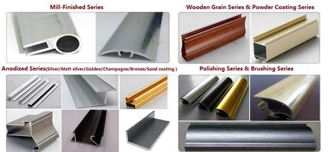 great customized designed aluminium extrusion profile anodizing brushed aluminium profile