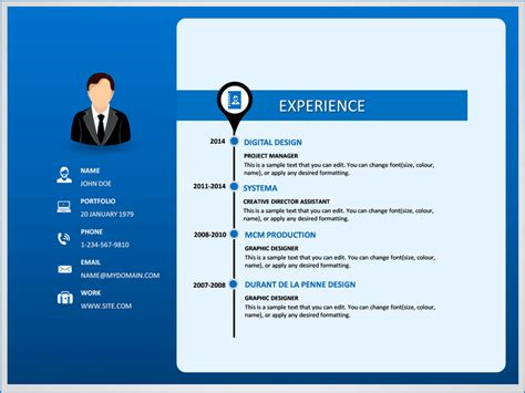 Resume Ppt by Professional Resume Powerpoint Template Sketchbubble