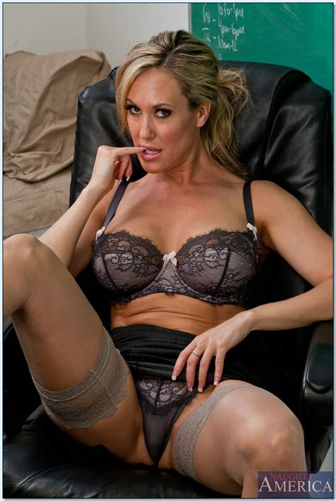 Tempting Milf Teacher In Stockings Brandi Love Showing Off