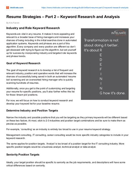 Powerful Resume Keywords by Powerful Resume Strategies To Land The Part 2