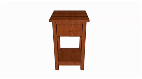 Nightstand Blueprints by Farmhouse Nightstand Plans