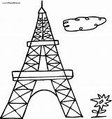 Eiffel Tower Coloring Pages Drawing Outline Easy Paris France Adult Printable Getdrawings Clipartmag Getcolorings Computer French sketch template