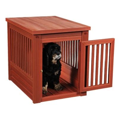dog crate side table habitat n home innplace pet crate end table
