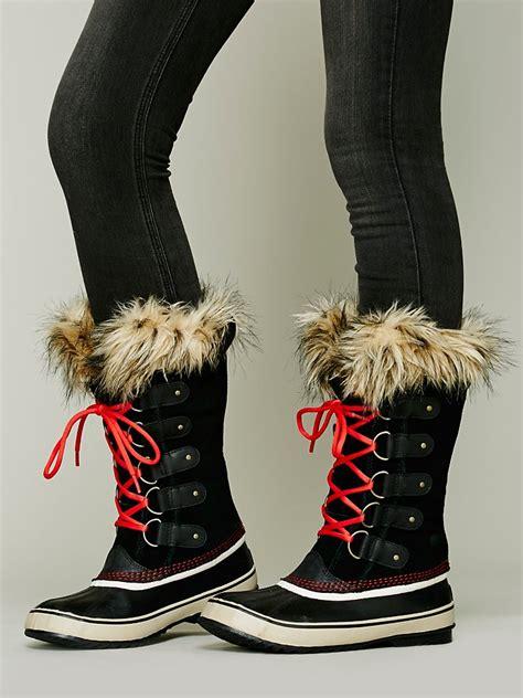 lyst sorel joan  arctic boot  red