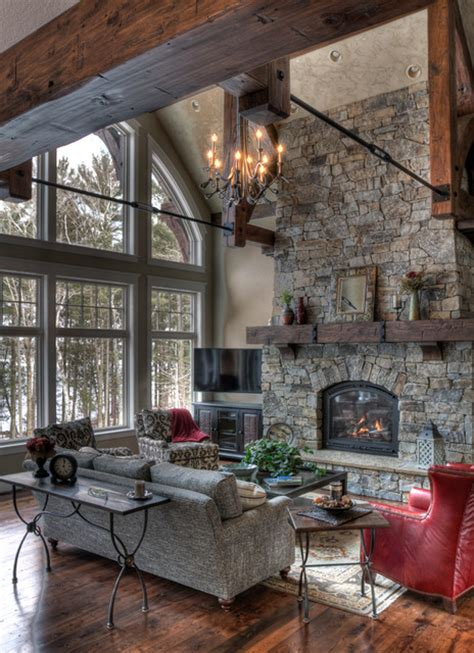 living room ideas with fireplace 19 stunning rustic living rooms with charming fireplace Rustic