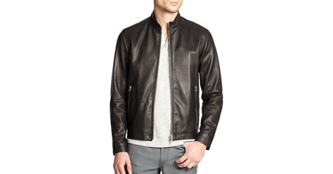 Theory Morveck Leather Bomber Jacket In Black For Men