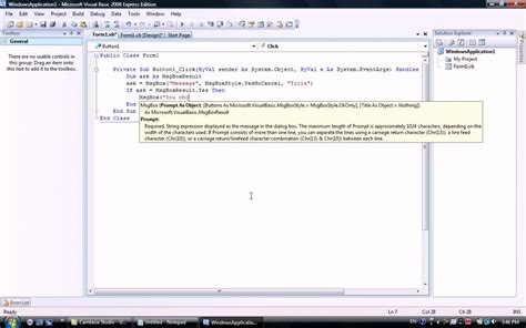 Yes-no-cancel Message Box In Visual Basic 2008-2015