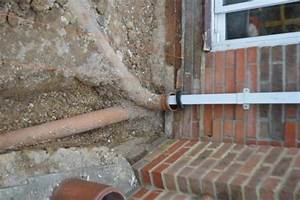 Soil Pipe And New Extension Foundations